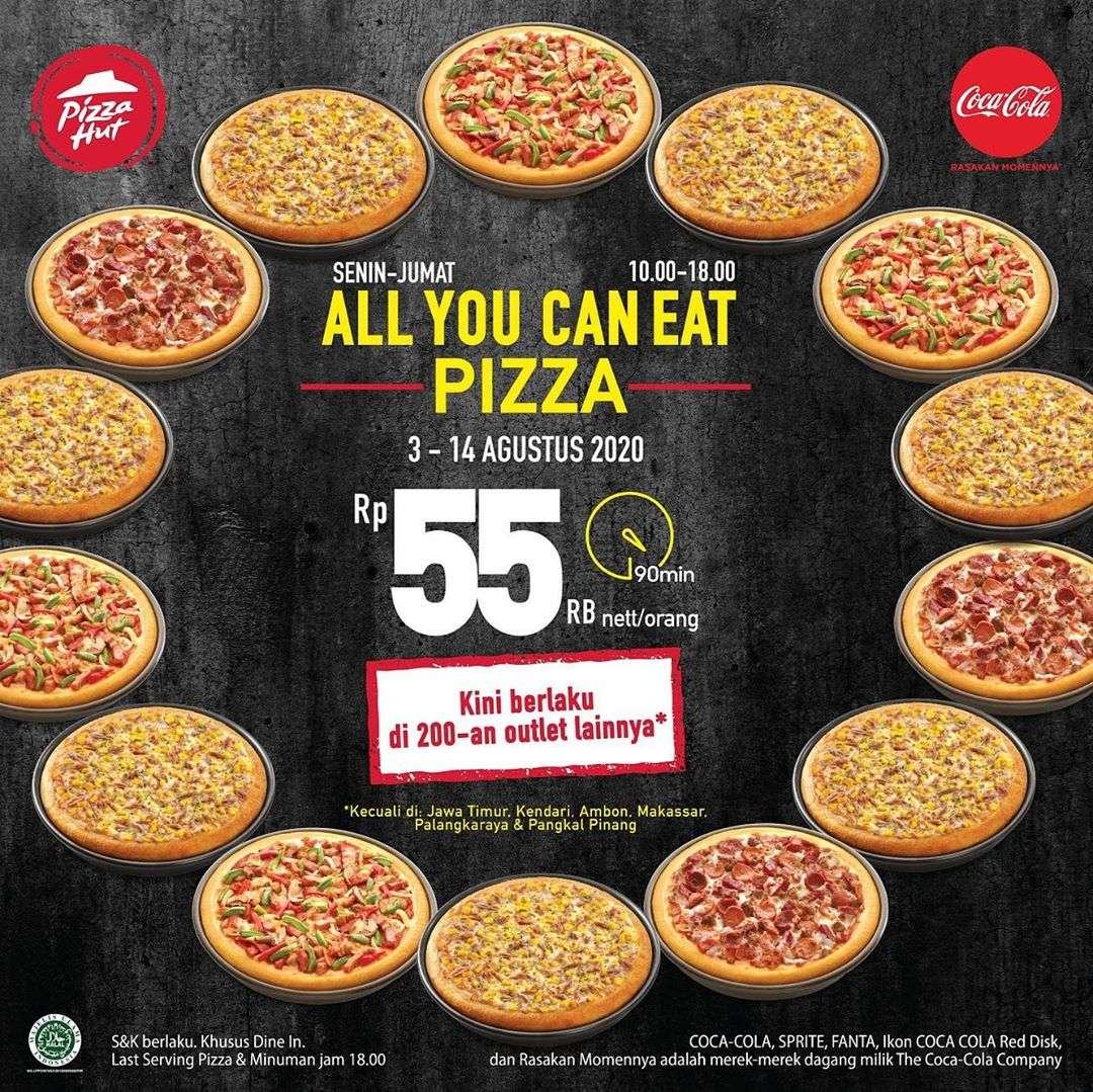 Diskon Promo Pizza Hut All You Can Eat Pizza Hanya Rp. 55.000 nett/orang