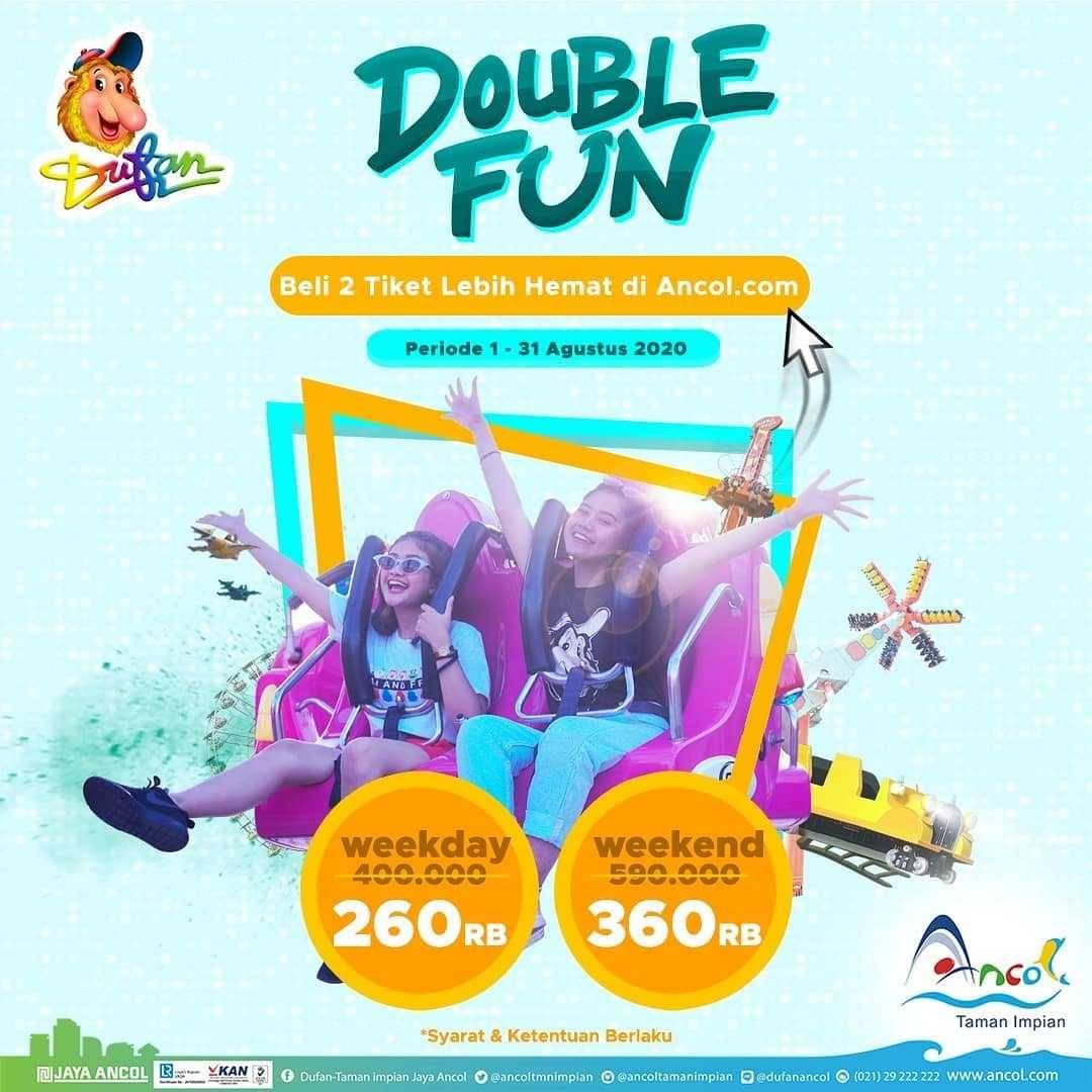 Promo diskon Promo Dufan Double Fun Dua Tiket Dengan Harga Mulai Dari Rp. 260.000