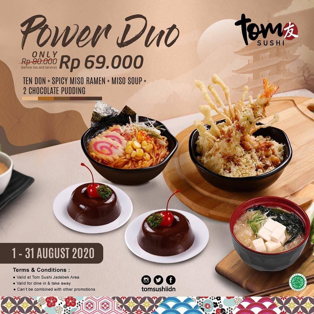Diskon Tom Sushi Promo Paket Power Duo Harga Spesial Hanya Rp. 69.000