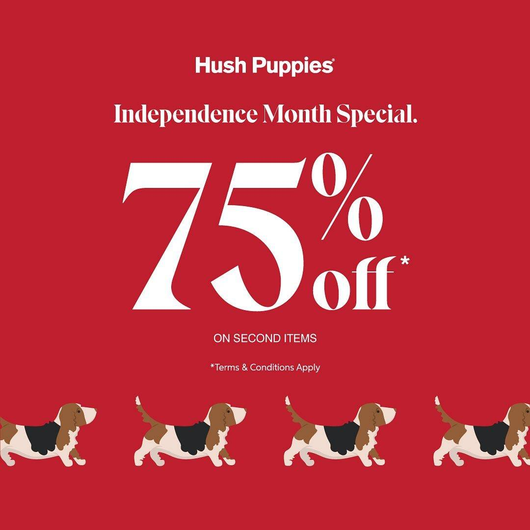 Diskon Hush Puppies Independence Month Special Diskon 75% Off On Second Items