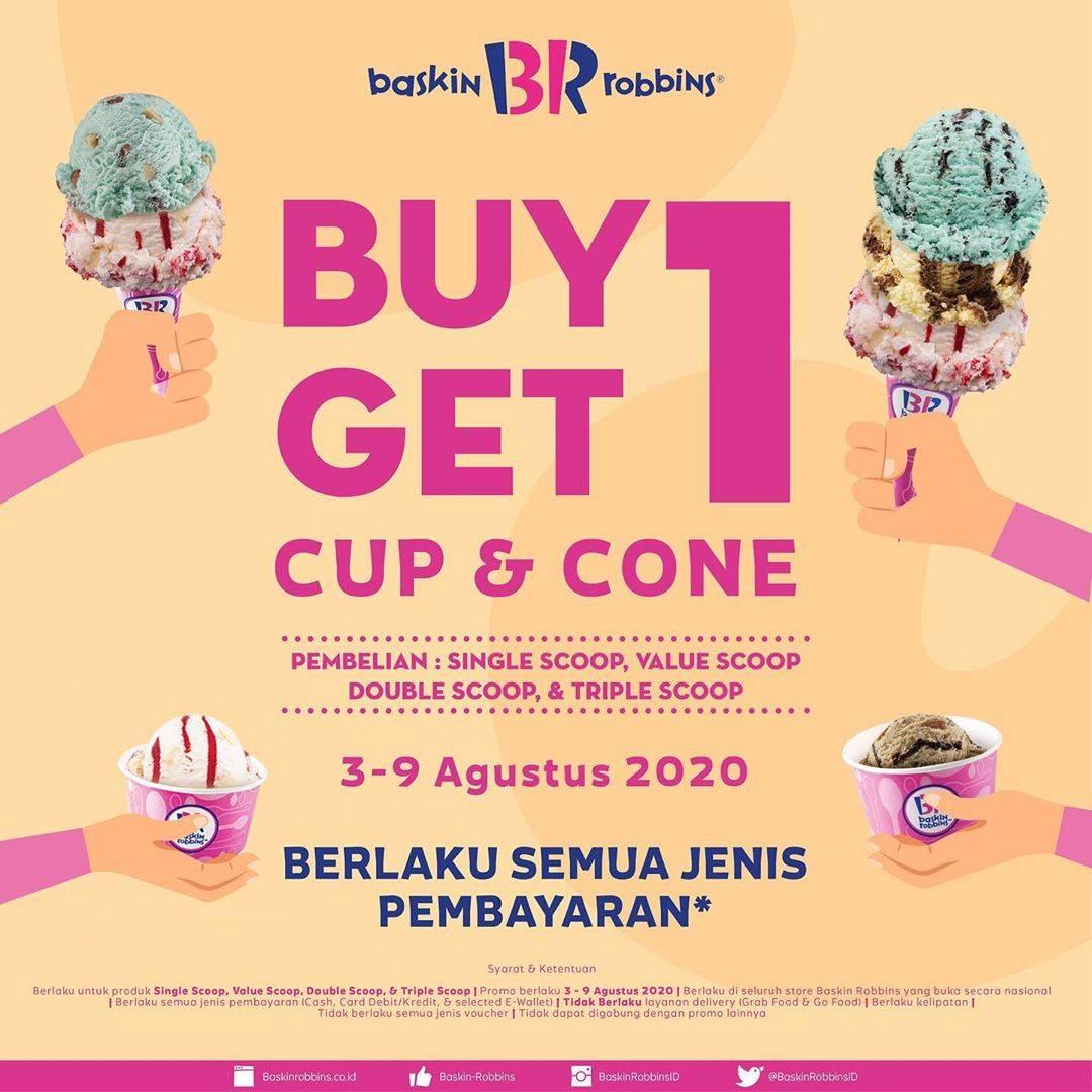 Diskon Baskin Robbins Buy 1 Get 1 Cup & Cone