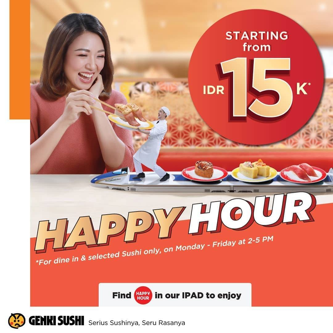 Diskon Genki Sushi Promo Happy Hour Mulai IDR 5K