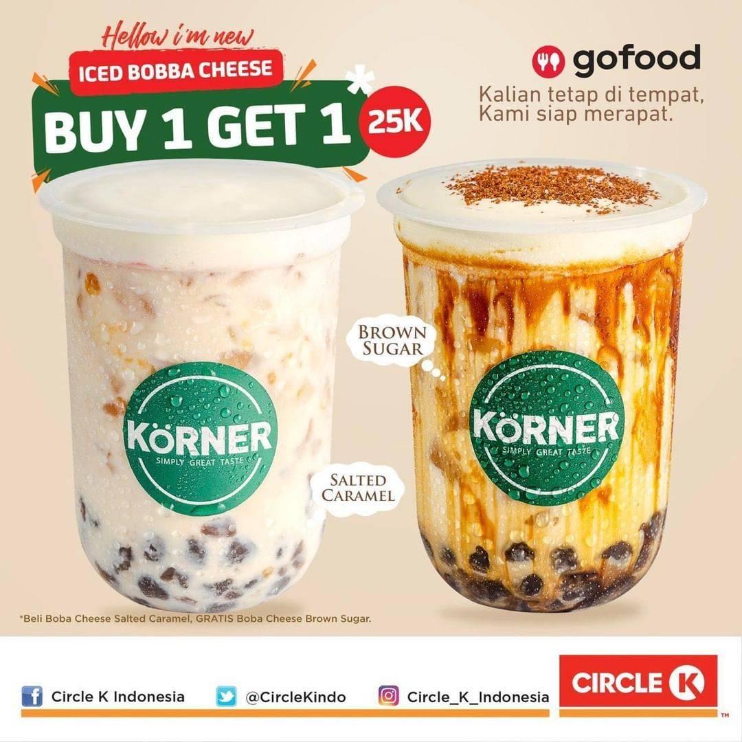 Diskon Promo Circle K Beli 1 Gratis 1 Ice Boba Cheese Untuk Pembelian Melalui GoFood