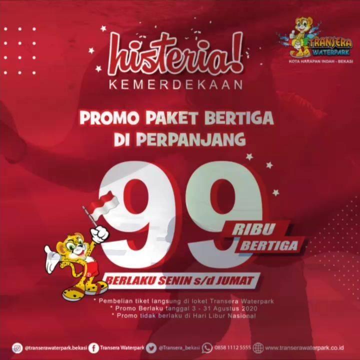 Diskon Promo Transera Waterpark Paket Bertiga Hanya Rp. 99.000