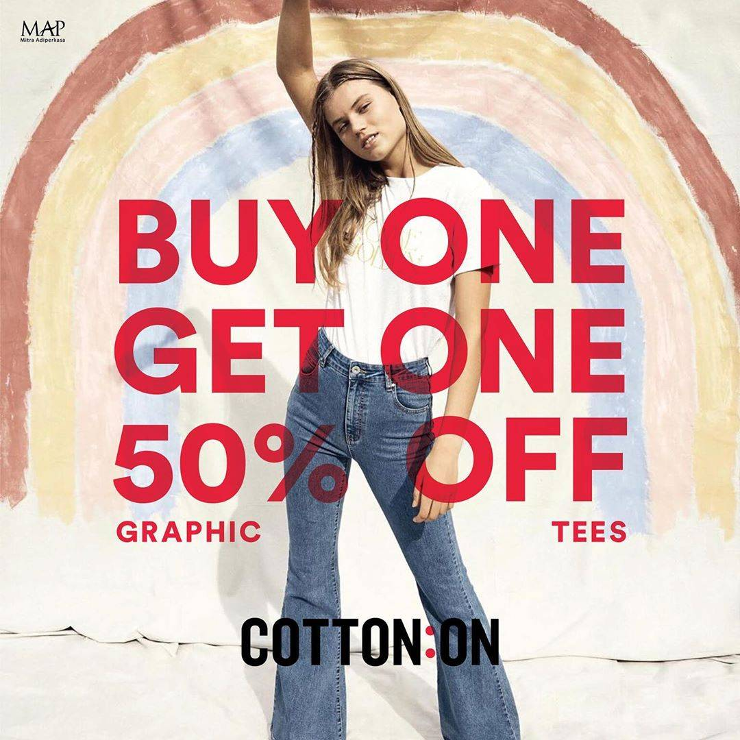 Diskon Promo Cotton On Buy 1 Get 1 Discount 50% Off
