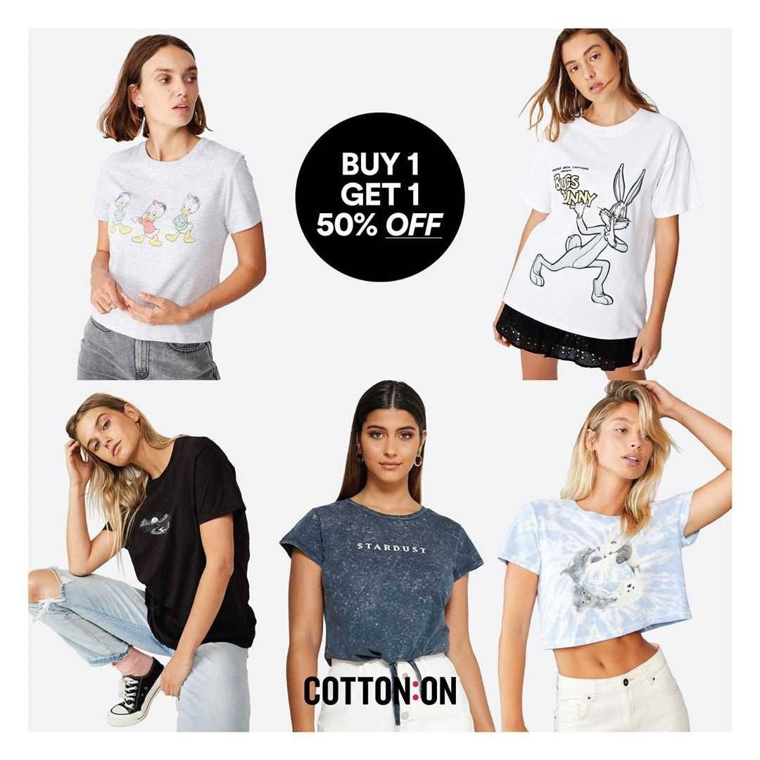 Promo diskon Promo Cotton On Buy 1 Get 1 Discount 50% Off