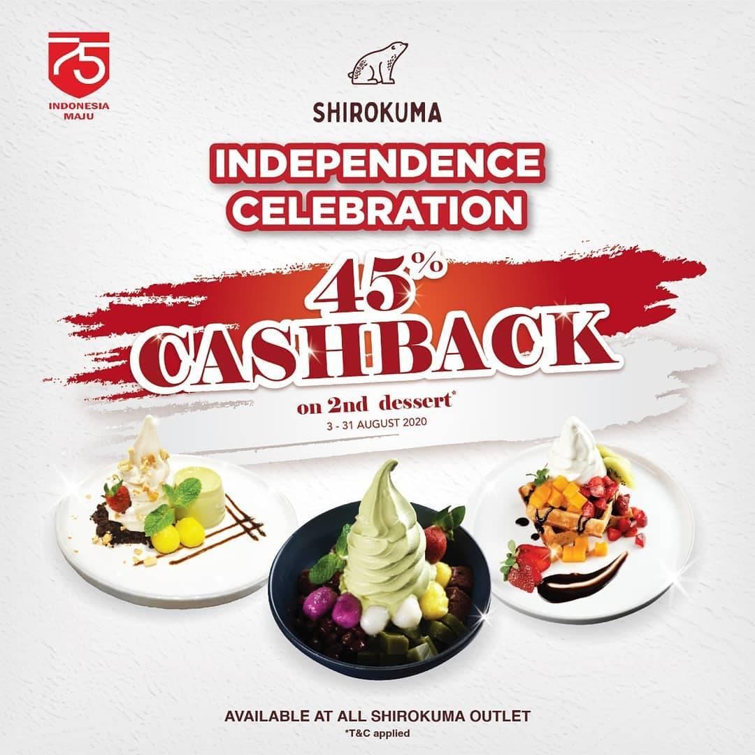 Diskon Promo Shirokuma Independece Celebration Cashback 45% On Favorites Desserts