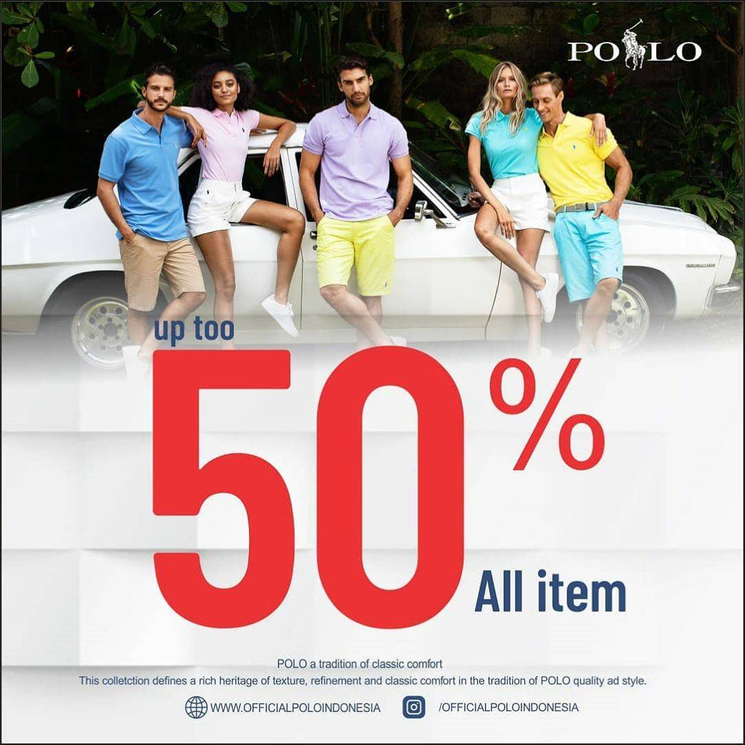 Diskon Promo Polo Discount Up To 50% Off On All Item dan Harga Spesial Masker Kain Non Medis