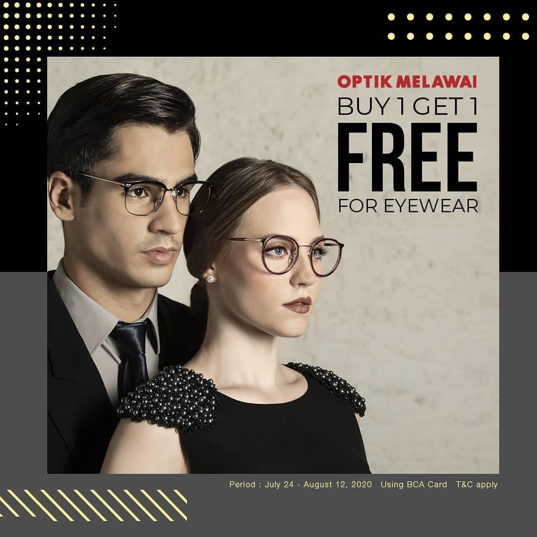 Diskon Promo Optik Melawai Buy 1 Get 1 Free For Eyewear For Payments With BCA Card