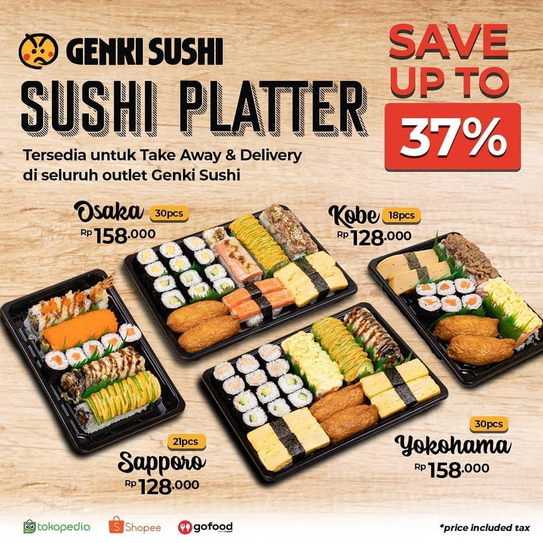Diskon Promo Genki Sushi Save Up To 37% For Sushi Platter