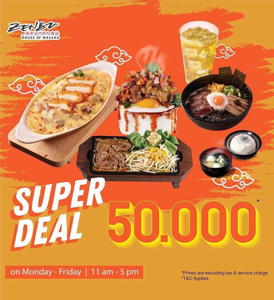 Diskon Promo Zenbu Harga Spesial Paket Super Deal Hanya Rp. 50.000