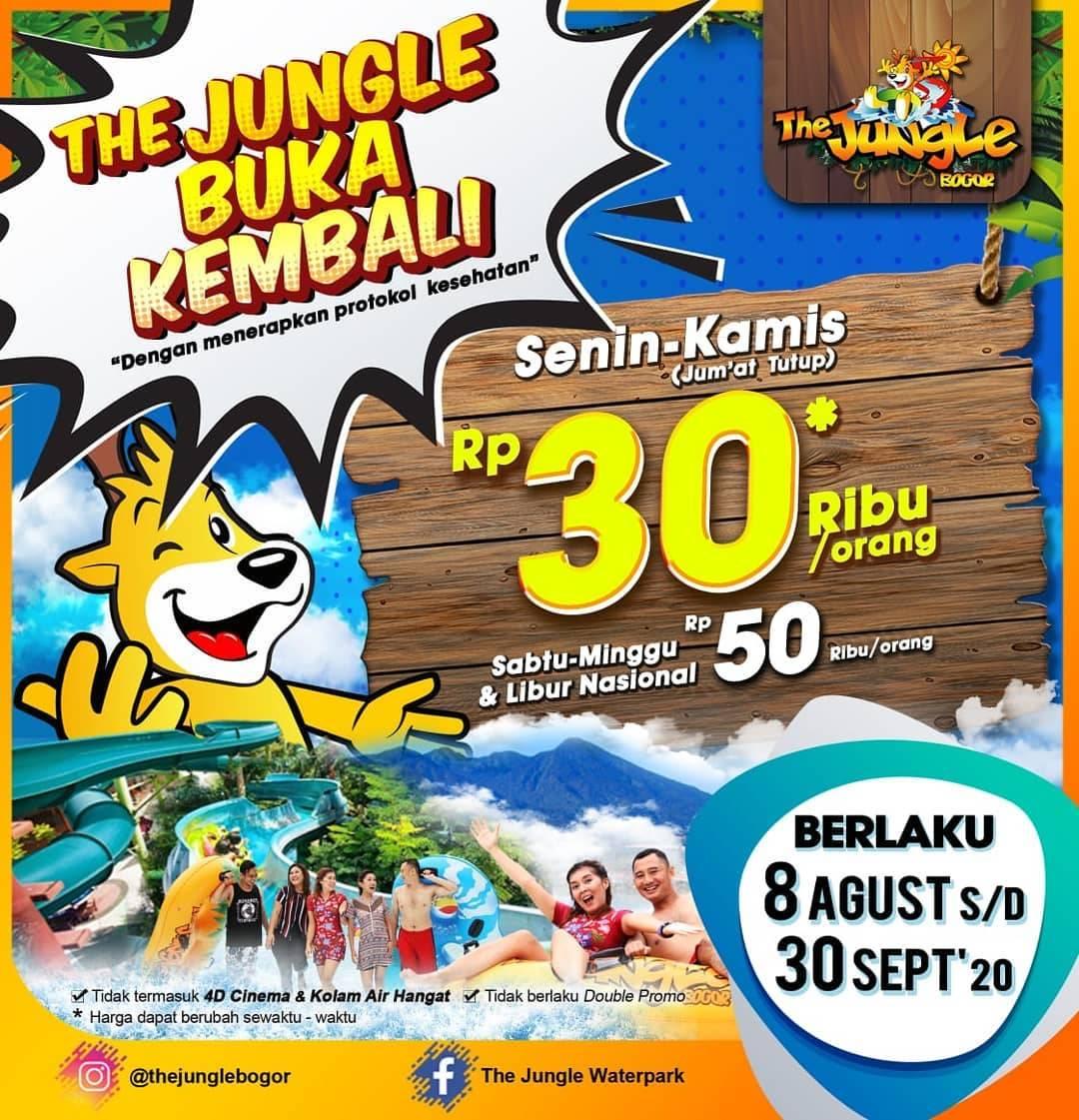 Diskon Promo Harga Tiket The Jungle Mulai Dari Rp. 30.000/ Orang