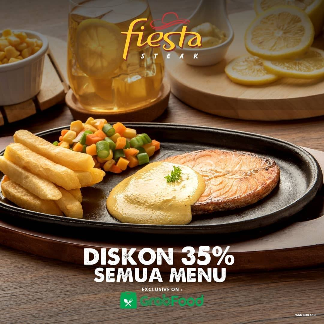 Diskon Fiesta Steak Promo Diskon 35% via GrabFood