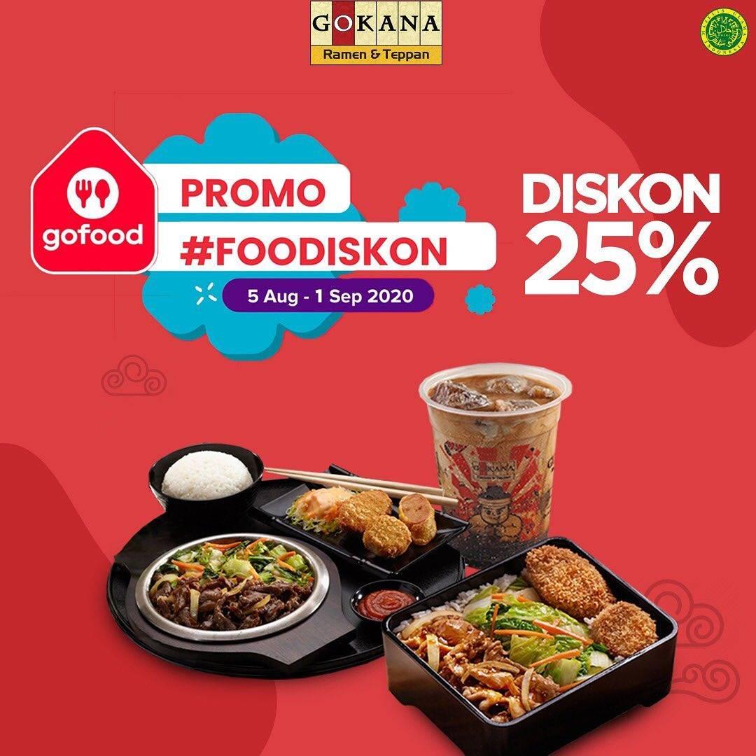 Diskon Gokana Promo Diskon Hingga 25% via GoFood