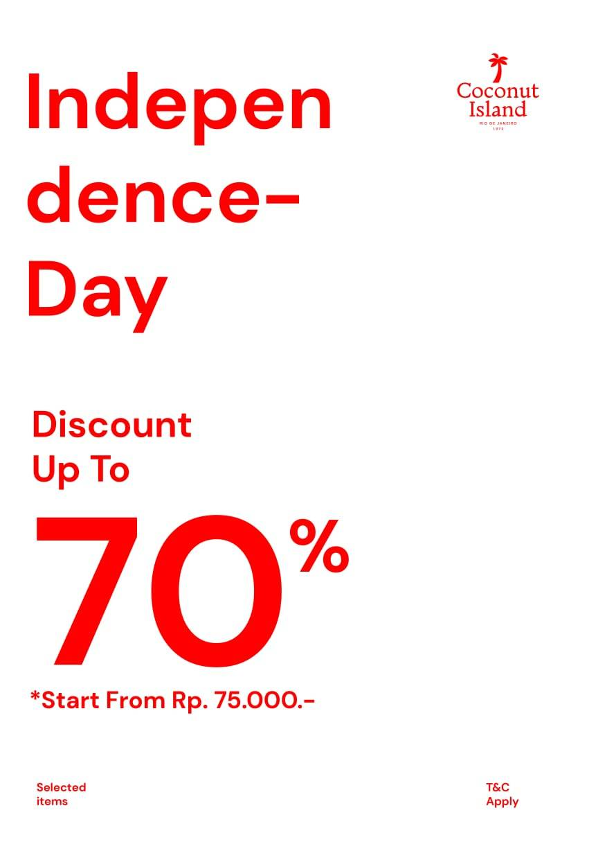 Diskon Coconut Island Promo Independence Day Disc Up To 70% Off