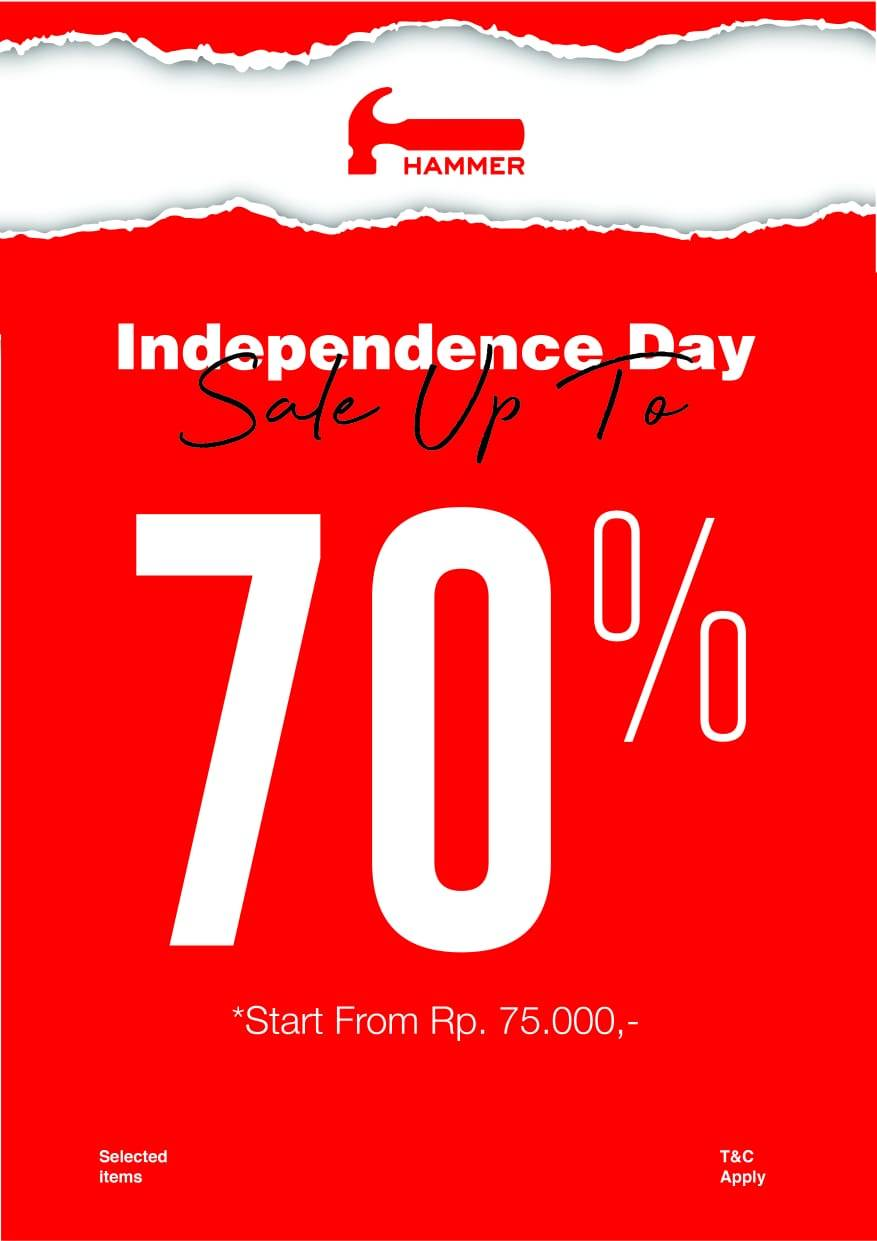 Diskon Hammer Promo Independence Day Diskon sampai 70%