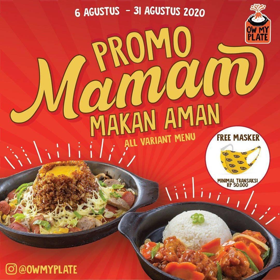 Diskon Ow My Plate Promo Paket Mamam GRATIS Masker