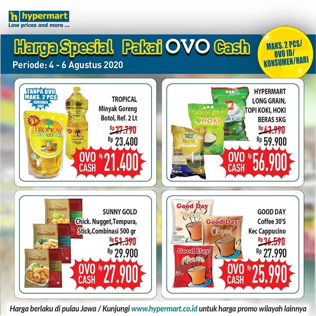 Diskon Katalog Promo Hypermart Pakai OVO Cash Periode 4 - 6 Agustus 2020