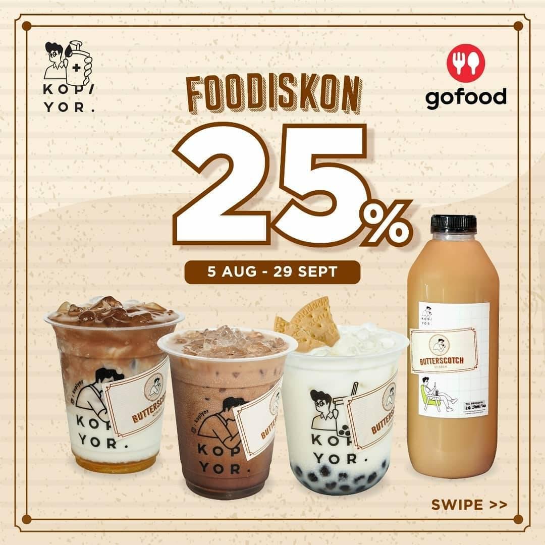Diskon Promo Kopi Yor Food Diskon 25% Untuk Pemesanan Paket Bundling Melalui Gofood