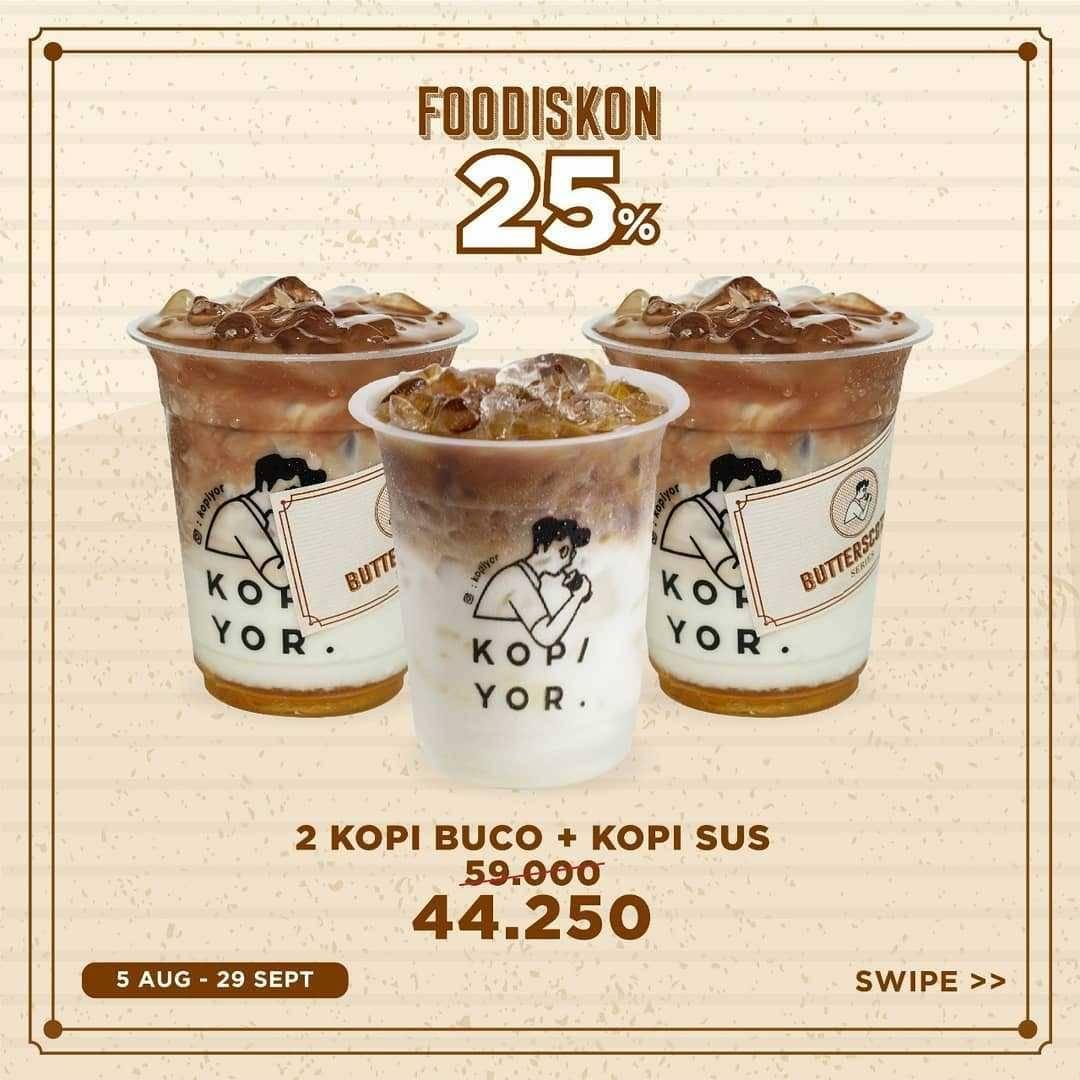 Promo diskon Promo Kopi Yor Food Diskon 25% Untuk Pemesanan Paket Bundling Melalui Gofood