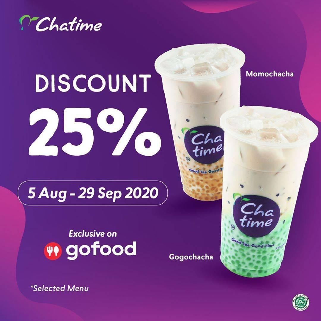 Diskon Promo Chatime Diskon 25% Untuk Pemesanan Menu Baru Melalui GoFood