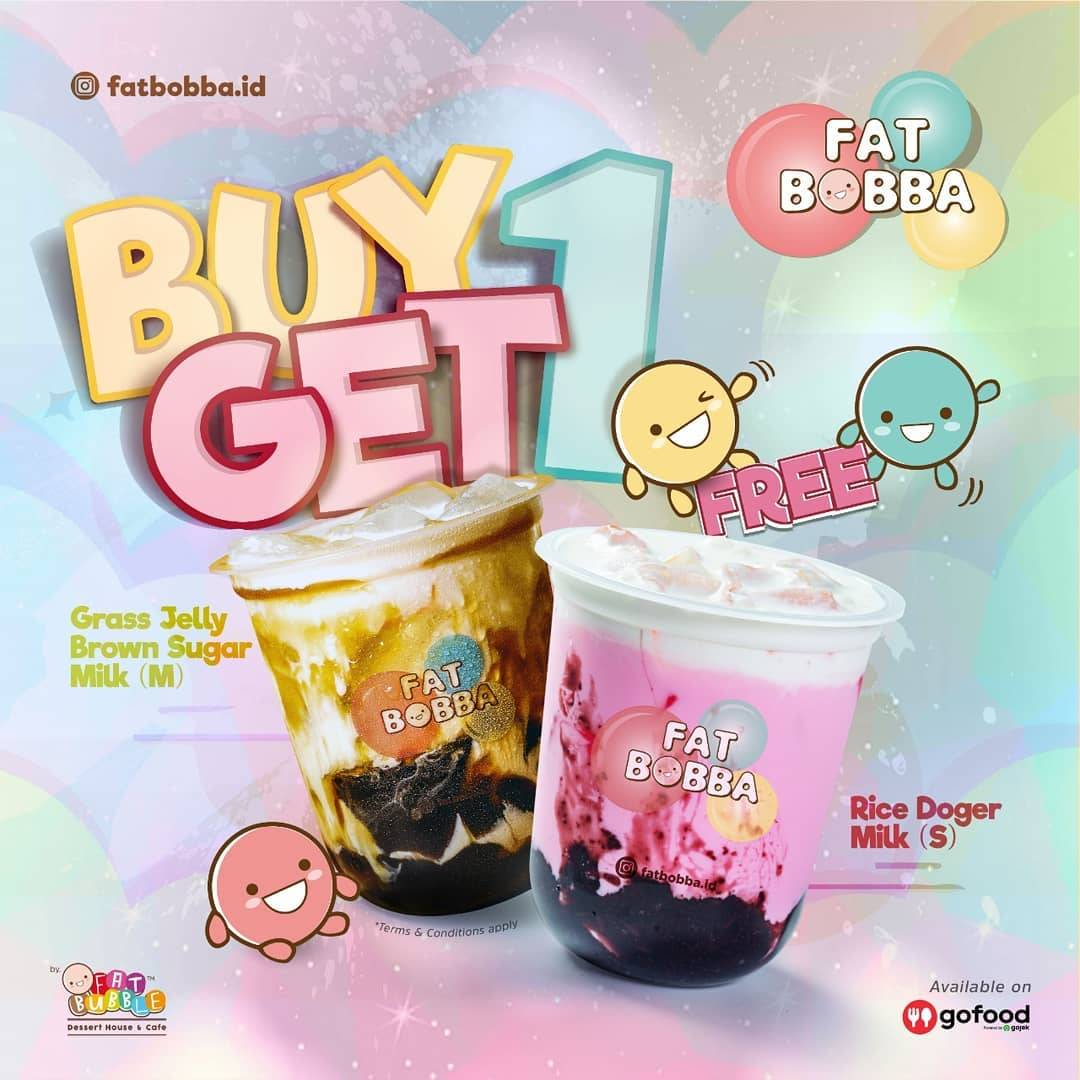 Diskon Promo Fat Bubble Buy 1 Get 1 Free Beverages For Order Via GoFood