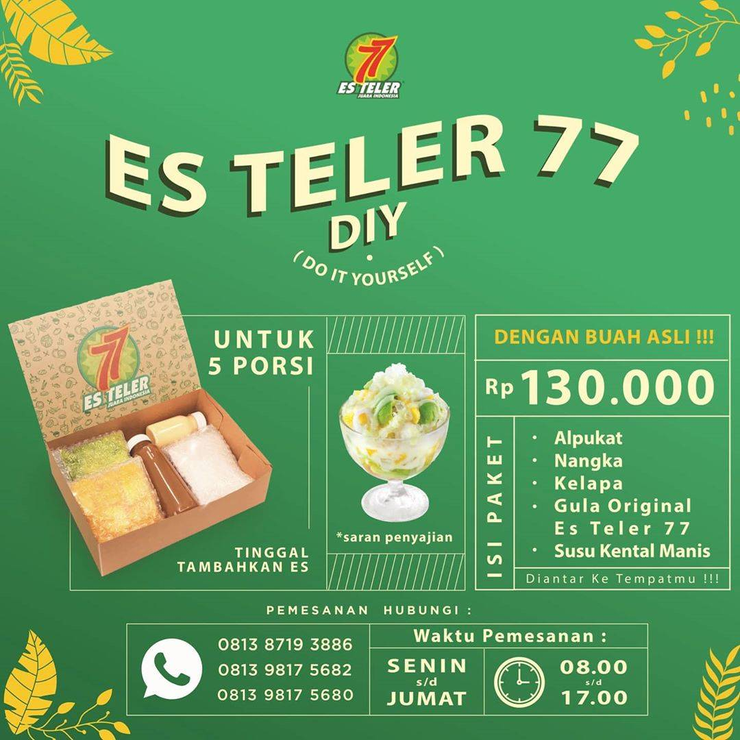 Diskon Promo Es Teler 77 Paket DIY Dengan Harga Rp. 130.000