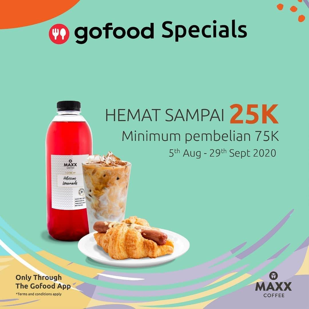 Diskon Promo Maxx Coffee Diskon Hingga Rp. 25.000 Untuk Pemesanan Melalui GoFood