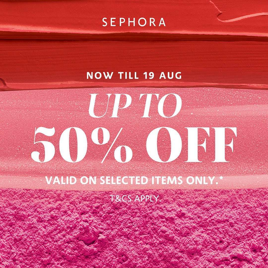 Diskon Promo Sephora Discount Up To 50% Off On Selected items