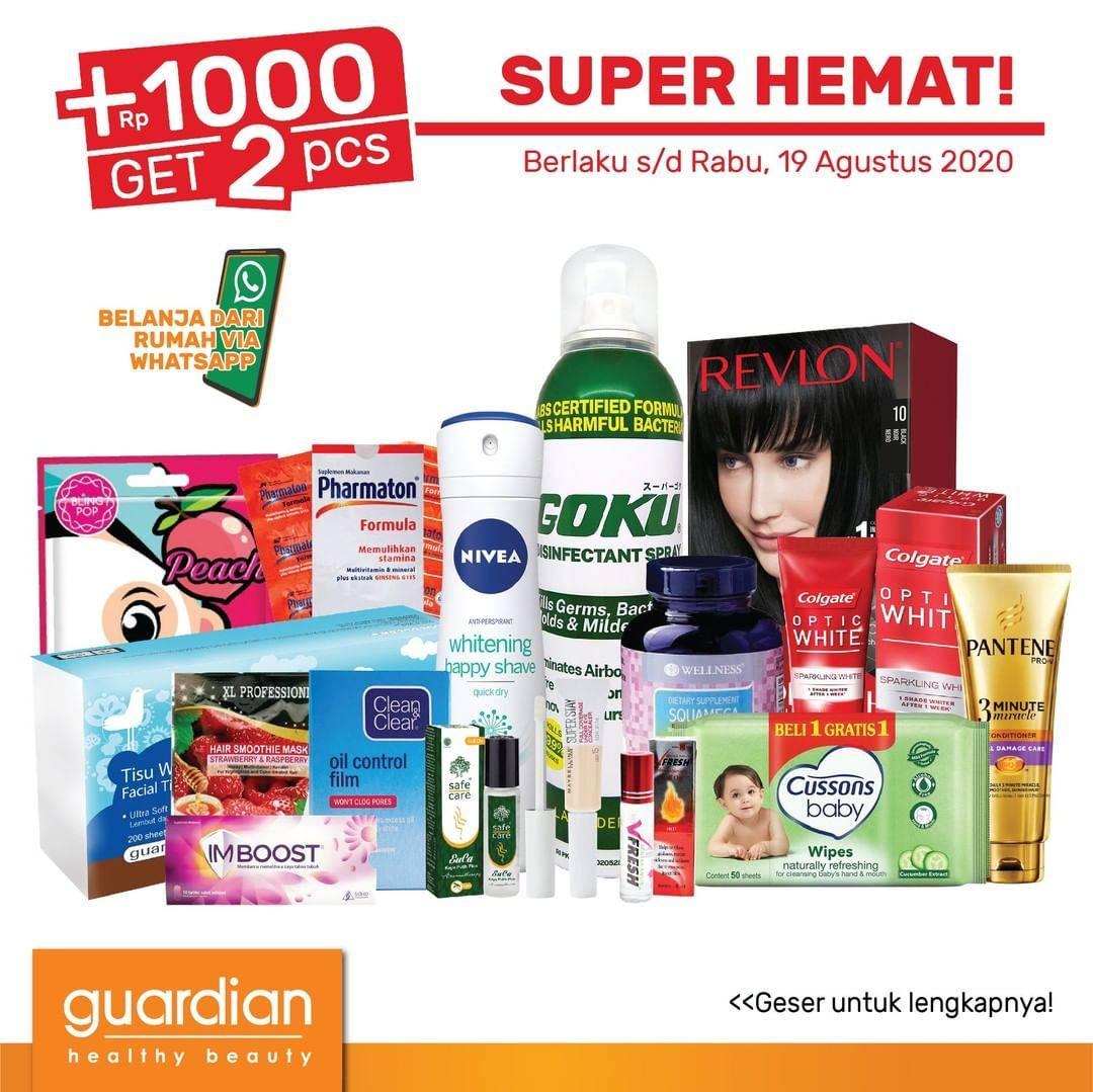 Diskon Promo Guardian Katalog Super Hemat Periode 6-19 Agustus 2020