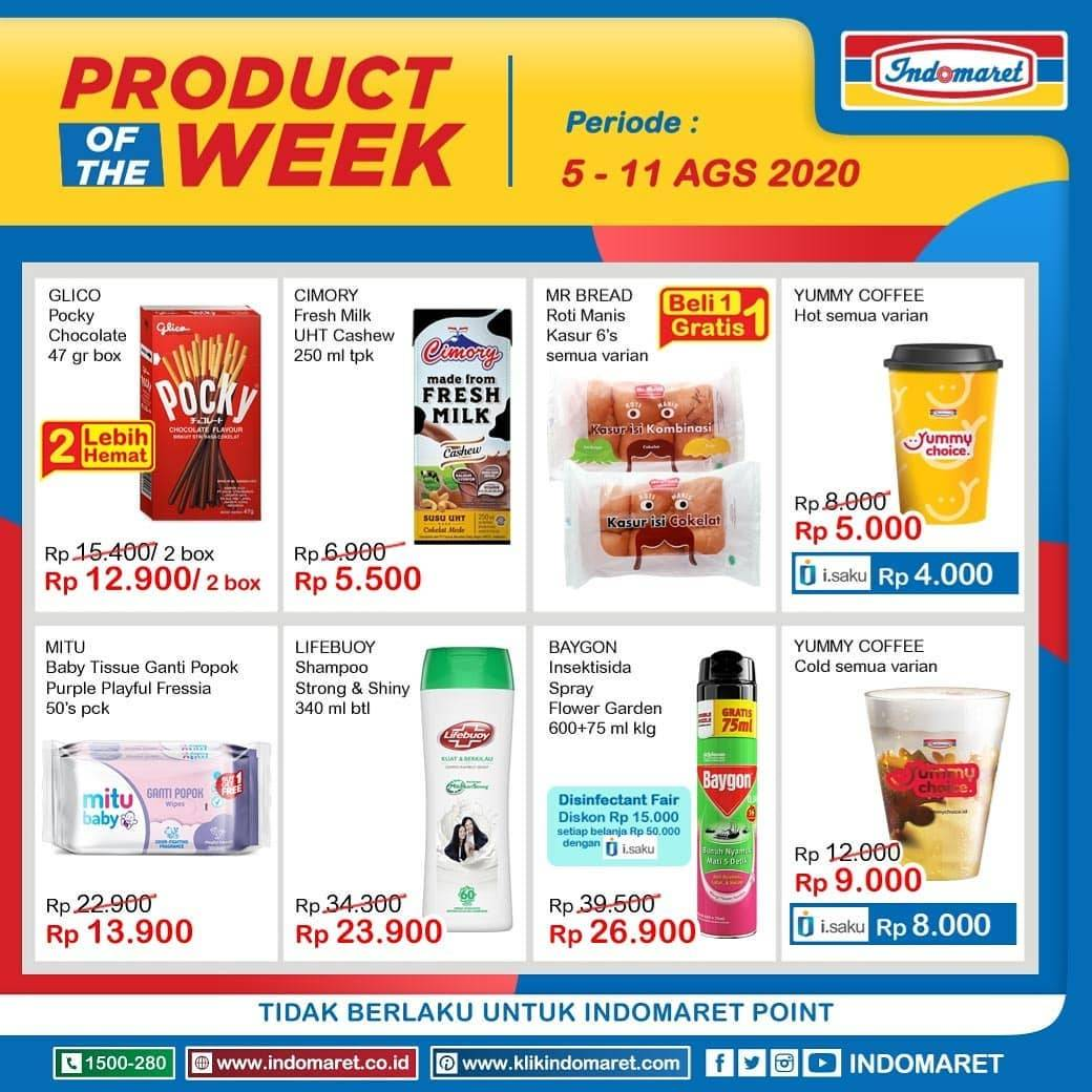 Diskon Katalog Promo Indomaret Product of the Week Periode 5 - 11 Agustus 2020