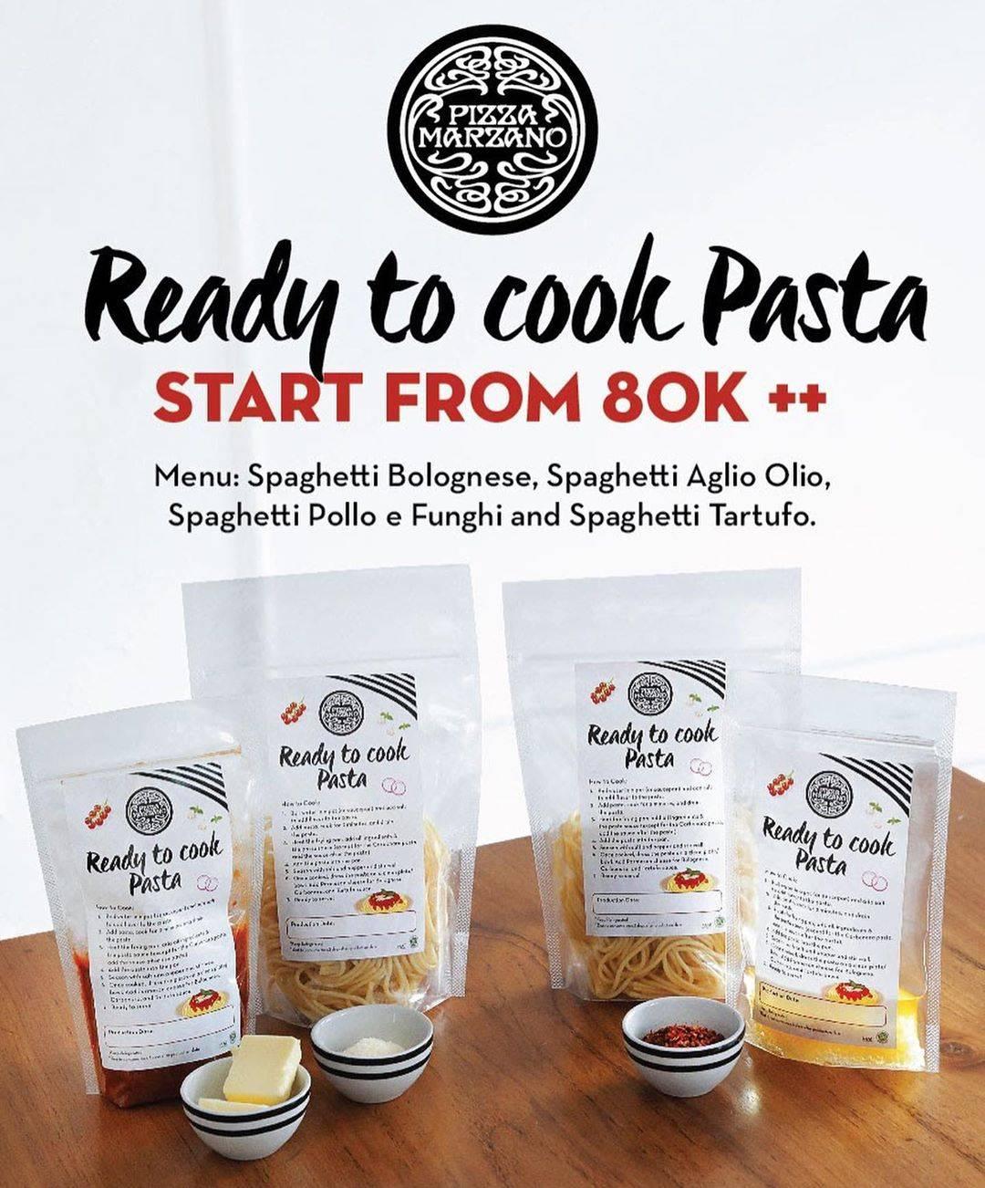 Diskon Pizza Marzano Promo Ready to Cook Pasta Mulai Rp. 80.000+