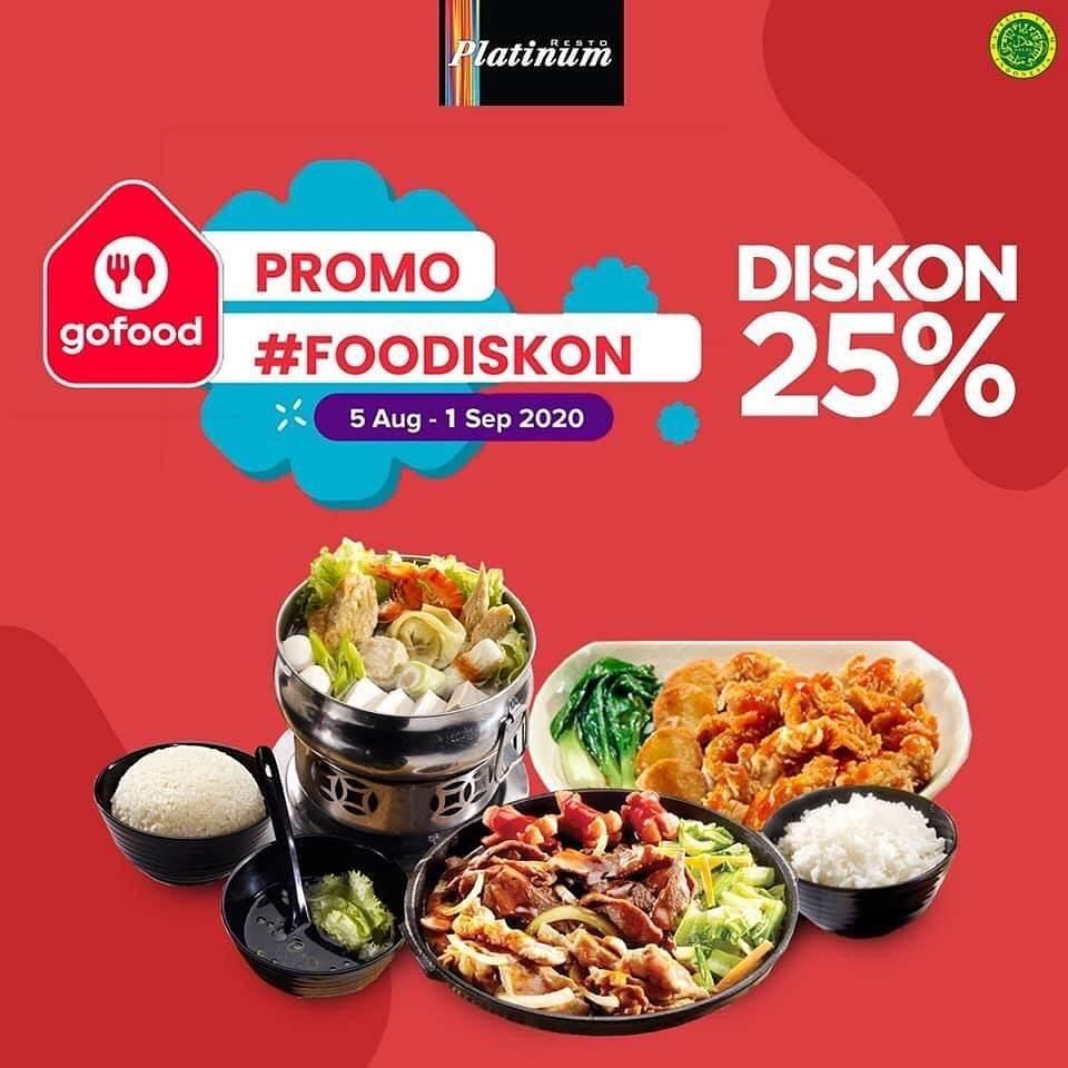 Diskon Platinum Resto Promo Diskon 25% via GoFood