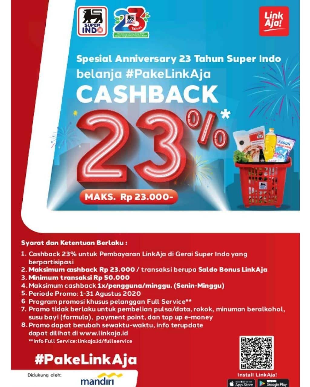 Diskon Promo Superindo Diskon 23% Hingga 23.000 Pake Linkaja