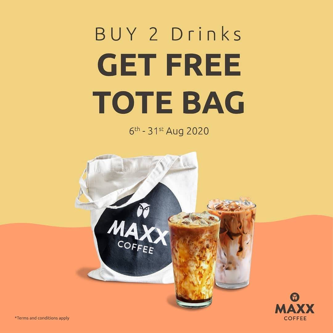 Diskon Promo Maxx Coffee Get Free Totebag