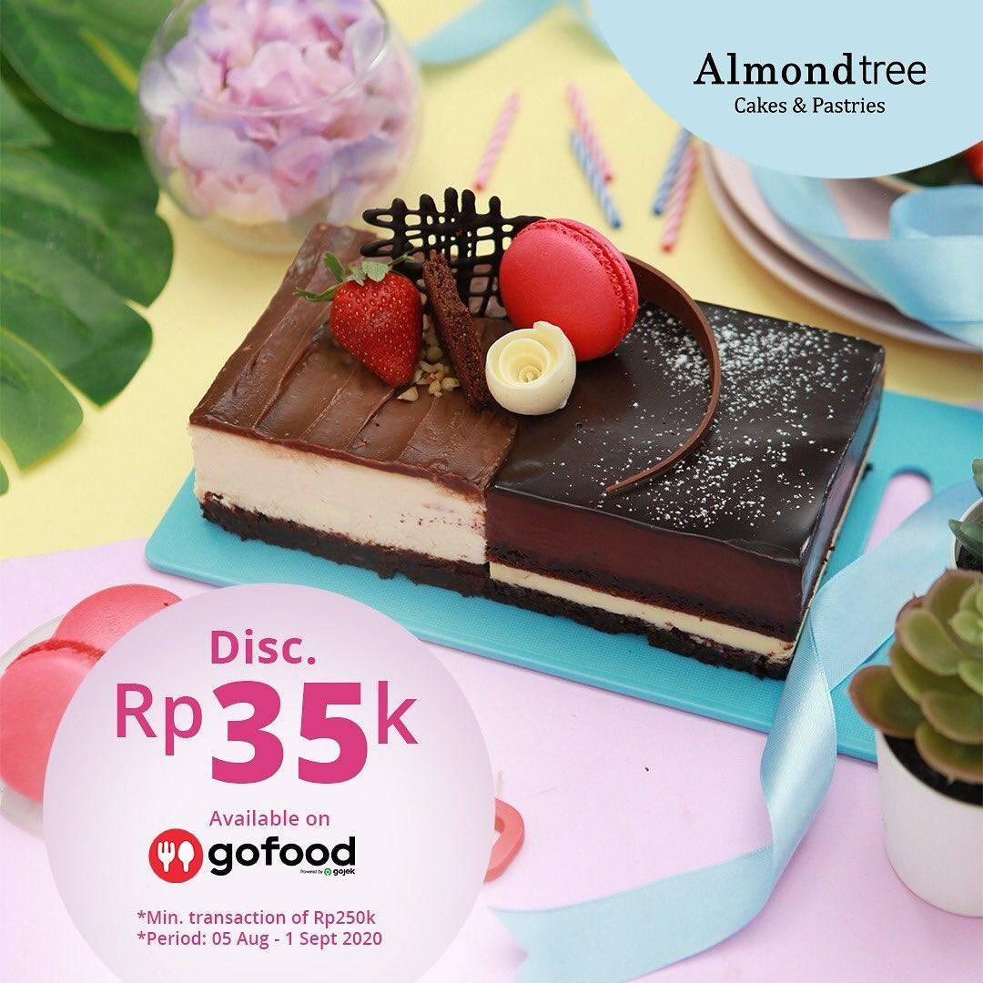Diskon Promo Almond Tree Diskon Rp. 35.000 Untuk Pemesanan Menu Melalui GoFood