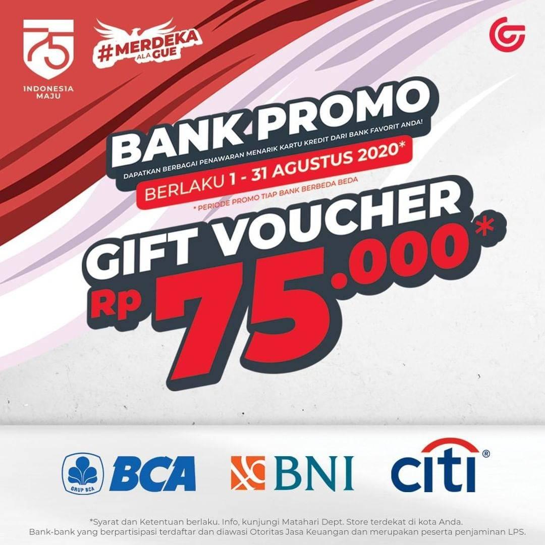 Diskon Promo Matahari Bank Gift Voucher Rp. 75.000