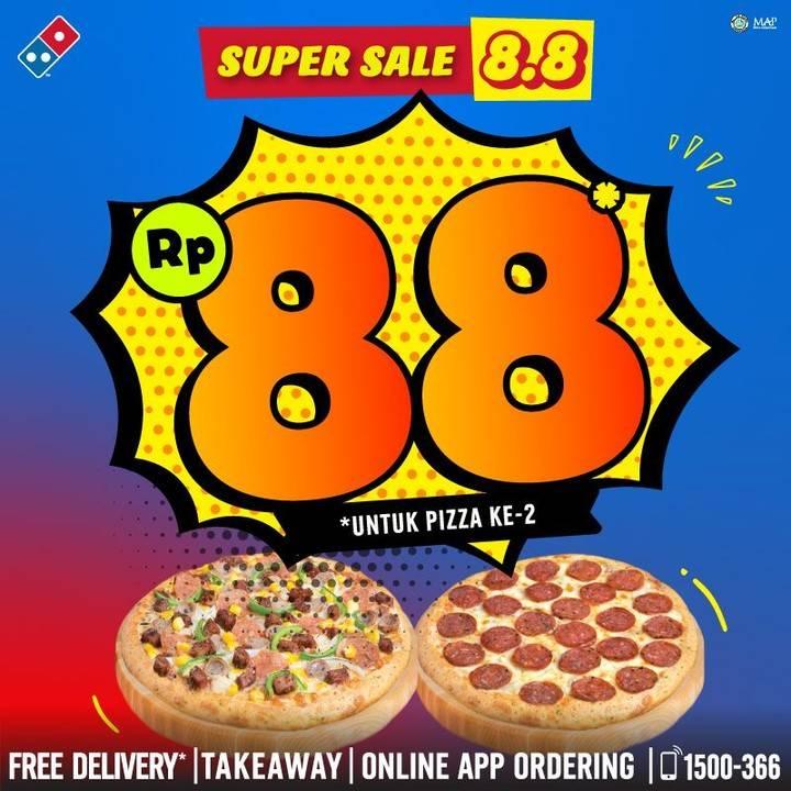 Diskon Promo Domino's Pizza Super Sale 8.8