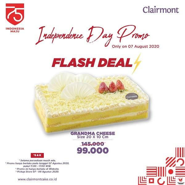 Diskon Promo Clairmont Flash Deal Grandma Cheese Only For Rp. 99.000