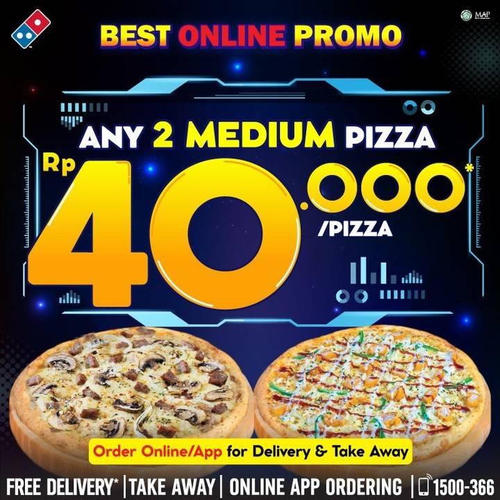 Diskon Promo Domino's Pizza Best Online Promo Special Value Rp. 40.000/Pizza