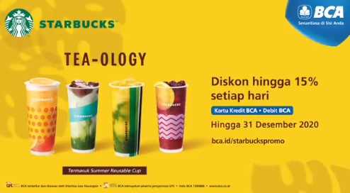 Diskon Starbucks Promo Bank BCA Diskon Hingga 15% Setiap Hari