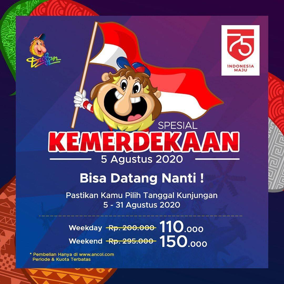 Diskon Promo Dufan Harga Spesial Kemerdakaan Untuk Tiket Masuk Mulai Dari Rp. 110.000