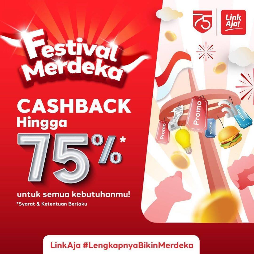 Diskon LinkAja Promo Festival Merdeka Cashback Hingga 75%