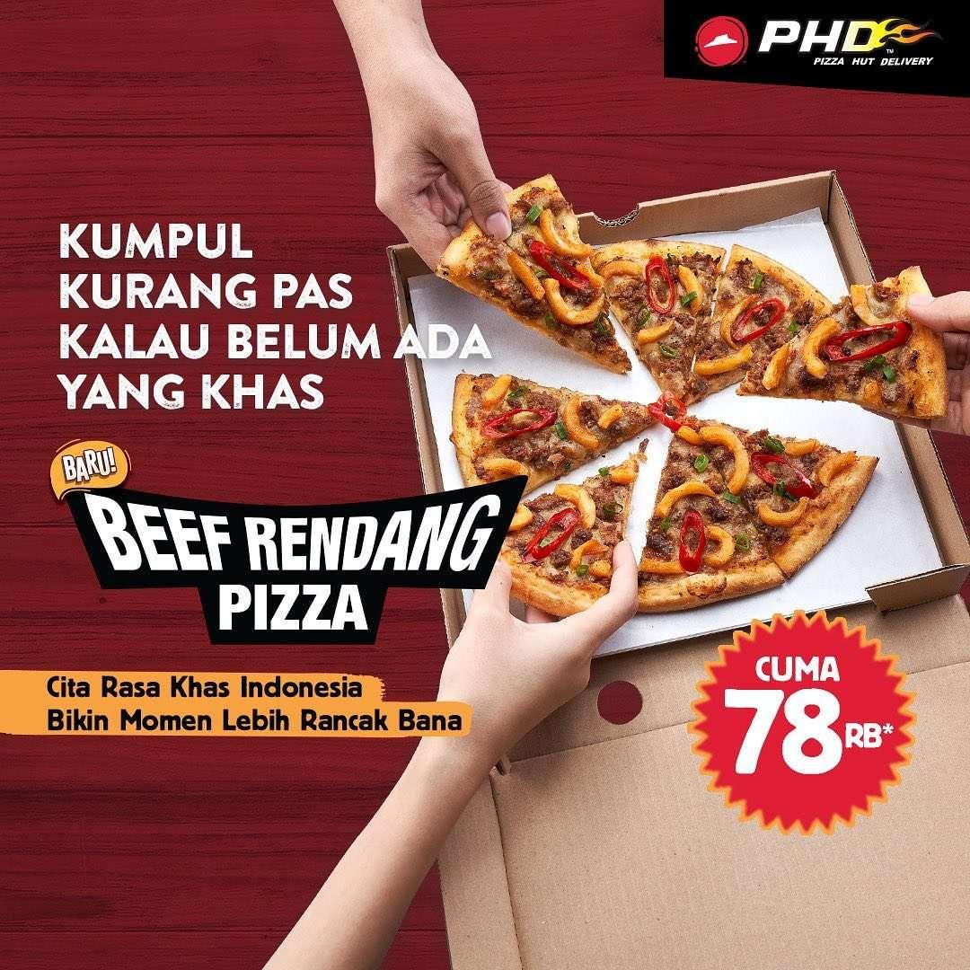 Diskon Promo PHD Harga Spesial Menu Baru Beef Rendang Pizza Cuma Rp. 78Ribu