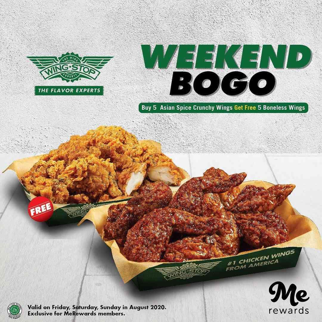 Diskon Promo Wingstop Weekend Buy 1 Get 1 Burger Untuk Member MeRewards