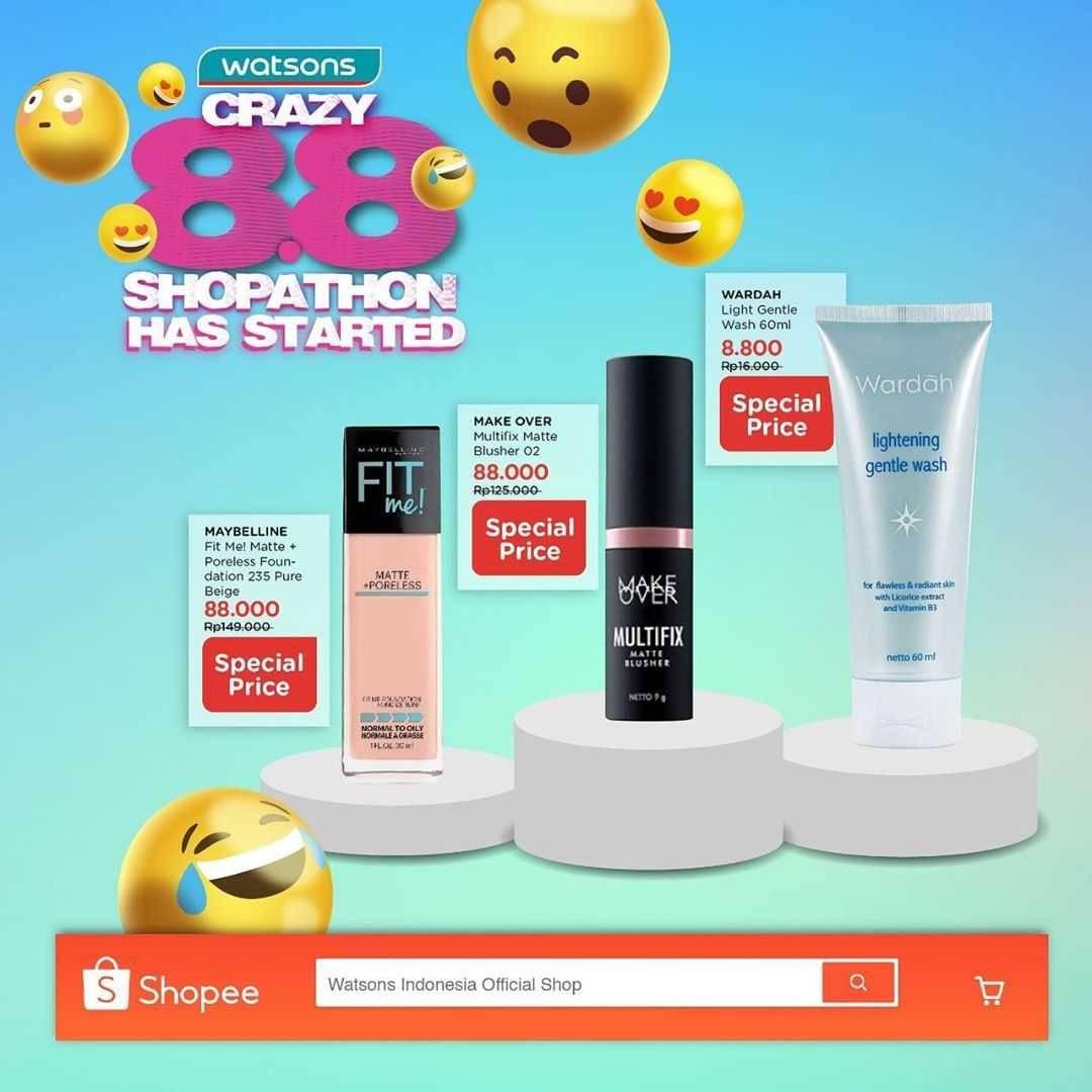 Promo diskon Promo Watsons Crazy 8.8 Shopathon