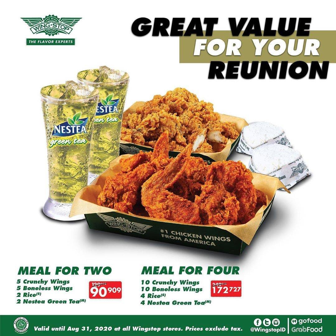 Diskon Wingstop Promo Paket Meal for Two dan Meal for Four