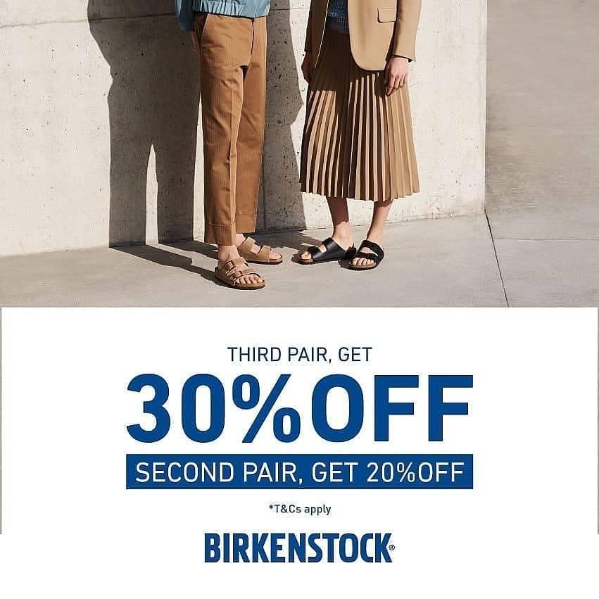 Diskon Birkenstock Promo Diskon 30% untuk 3 pasang & 20% untuk 2 pasang