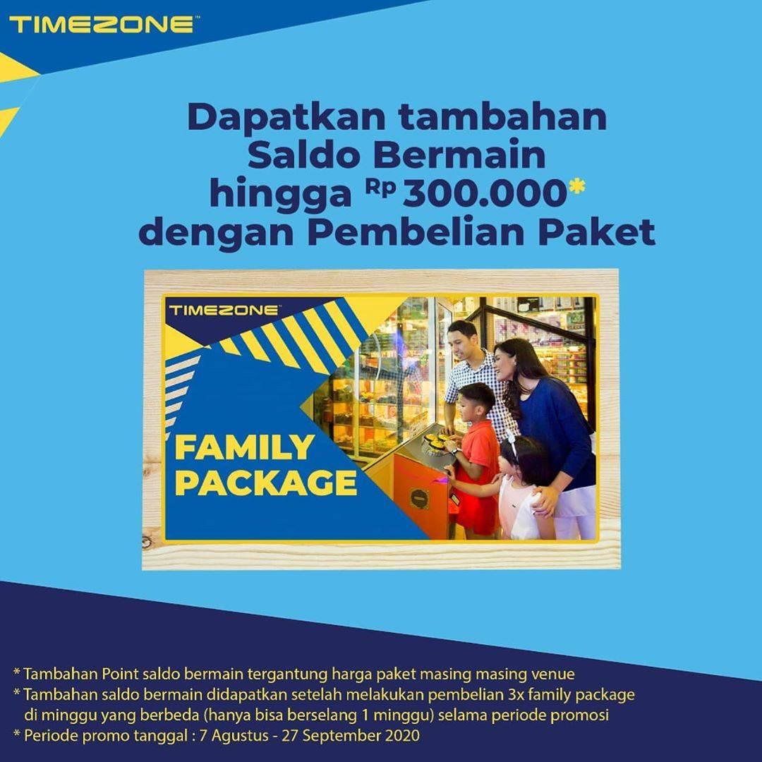 Diskon Timezone Promo Family Package Challenge Bonus Saldo hingga Rp. 300.000