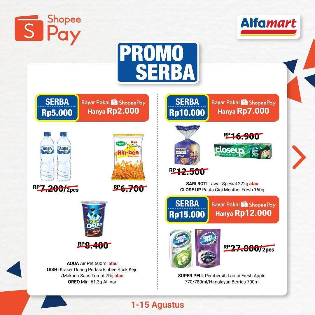 Diskon Promo Serba & Murmer Alfamart Untuk Transaksi Menggunakan Shopeepay